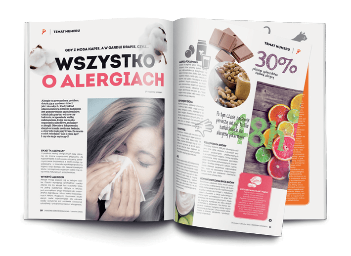 Magazine about healthy lifestyle for polish pharmacy 1