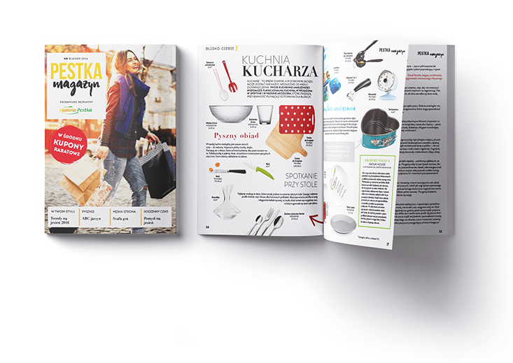 Lifestyle magazine for Pestka shopping centre